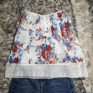Love Squared Flower Tank Top